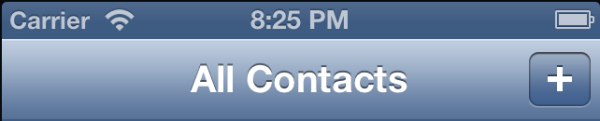 Contacts Plus Button