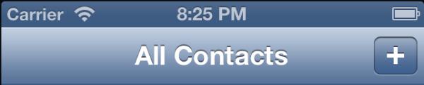 Contacts Plus Button